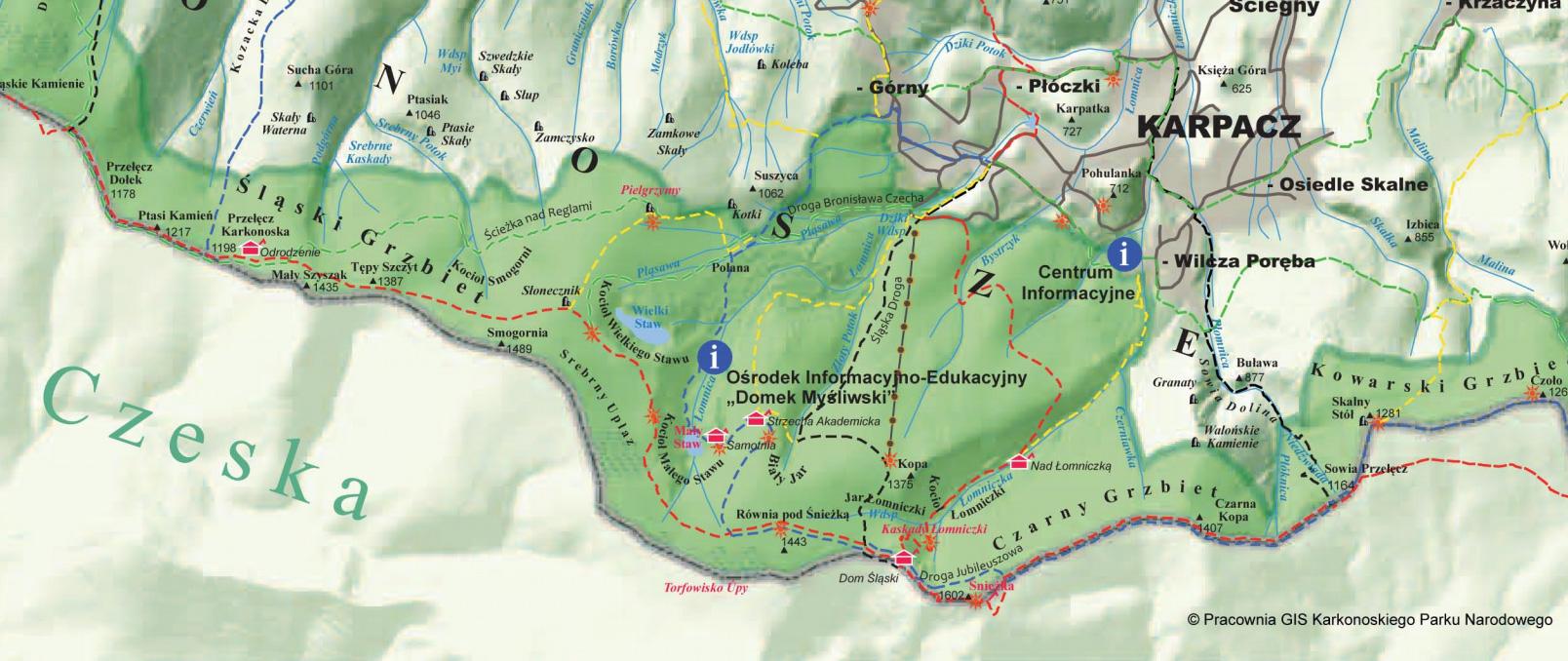 schroniska karkonosze Zielona Góra